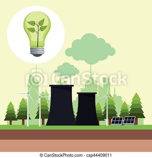 Ecología Potencia Energía Nuclear Solar Bubl Panel 10