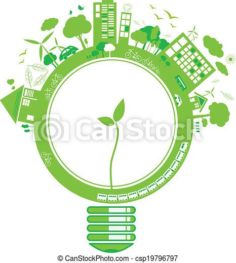ecologia, desenho, conceitos - csp19796797