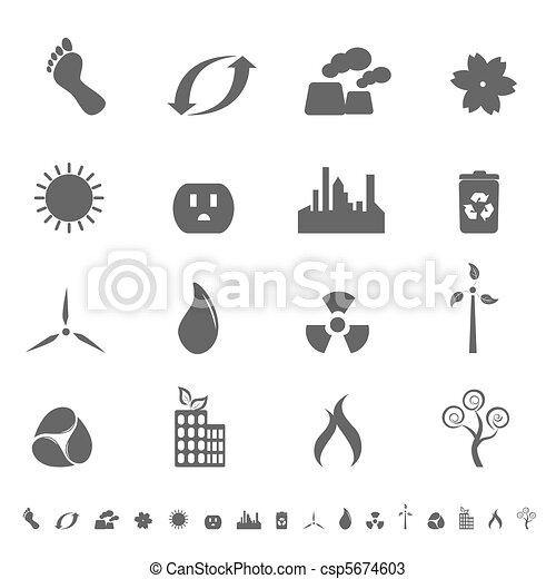 Ecologic symbols icon set - csp5674603