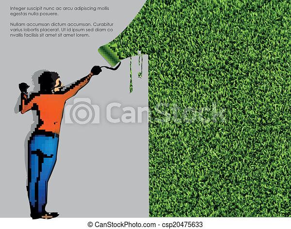ecological concept of grass - csp20475633