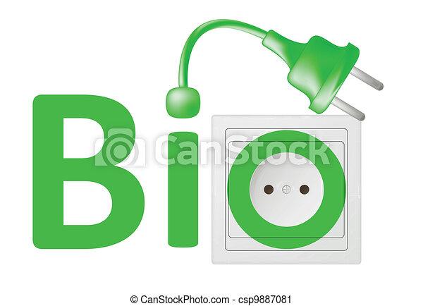 ecological concept, symbolizing bio energy - csp9887081