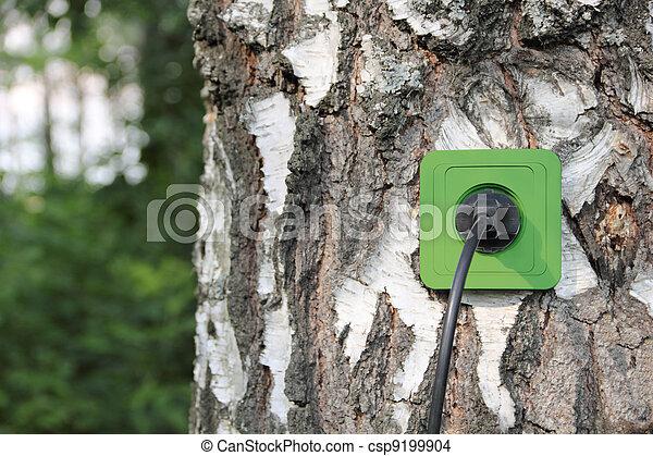 Ecological concept, symbolizing renewable energy, bio energy - csp9199904