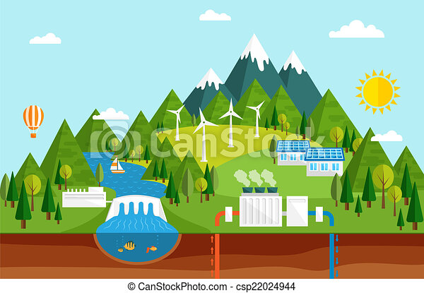 Ecological energy sources - csp22024944