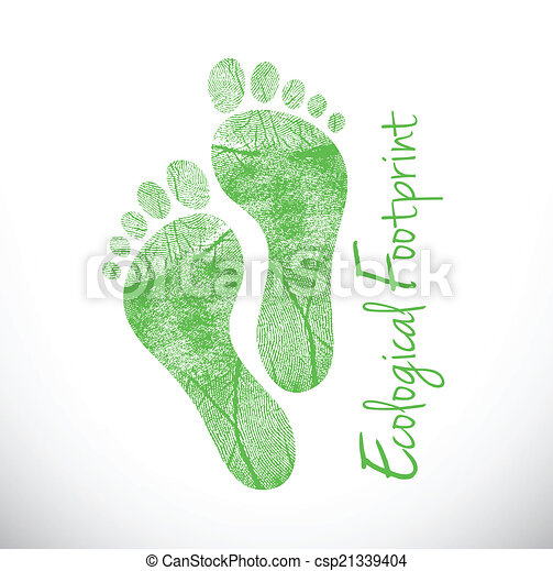 ecological footprint illustration design - csp21339404