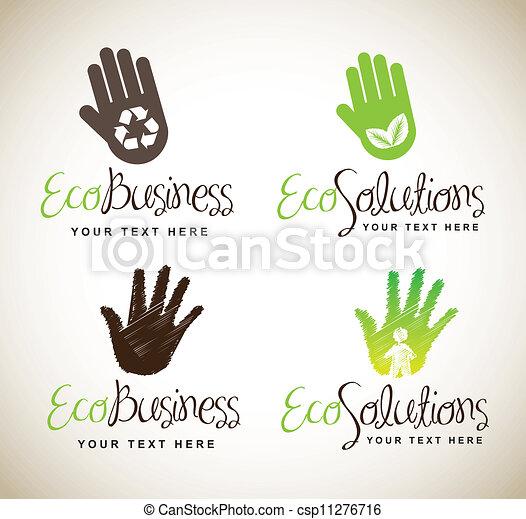 Ecological hands - csp11276716