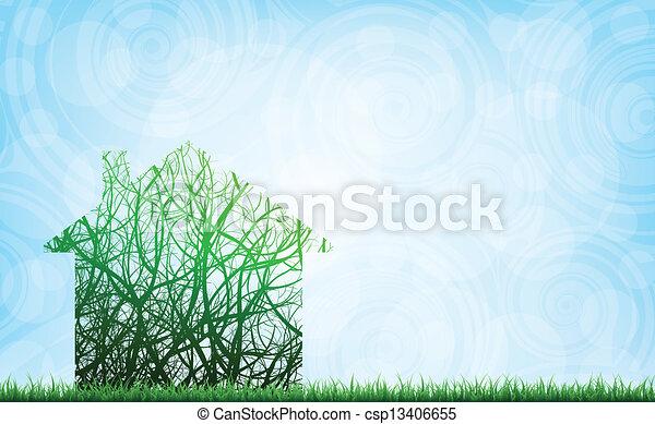 ecological house - csp13406655