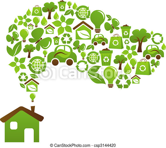 Ecological house - vector design - csp3144420