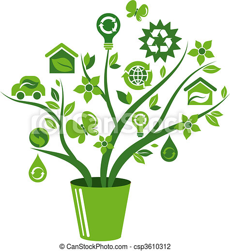 Ecological icons tree - 1 - csp3610312