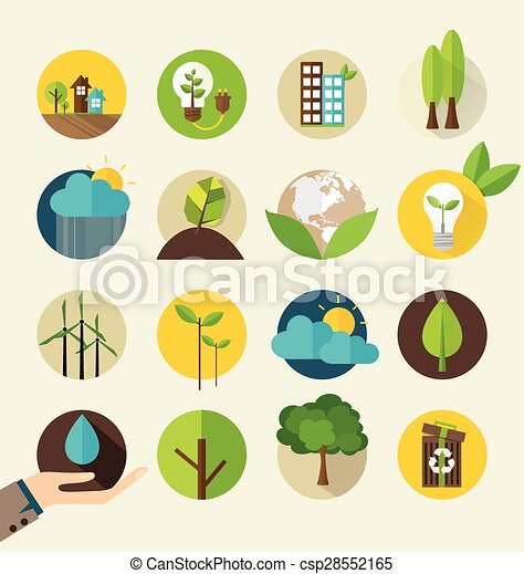 Ecological Icons. Vector illustration. - csp28552165