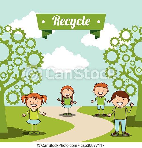 ecological kids - csp30877117