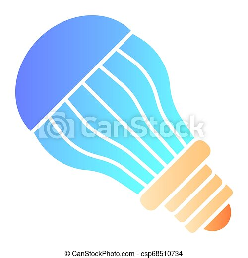 Ecological light bulb flat icon. Electric color icons in trendy flat style. Eco lamp gradient style design, designed for web and app. Eps 10. - csp68510734