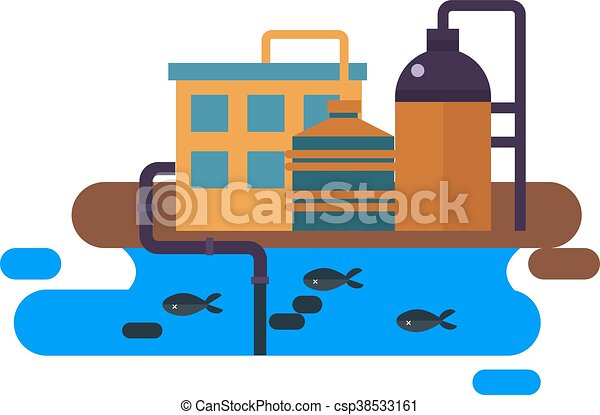 ecological problems environmental pollution vector clip art rh canstockphoto com water pollution pictures clip art