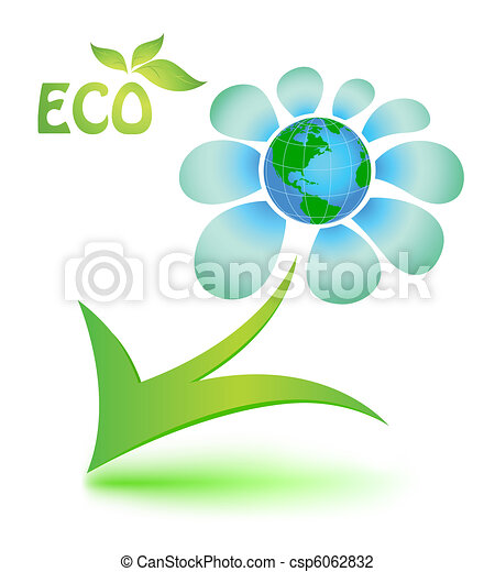 Ecological Symbol With Mother Earth The Image Of Ecological