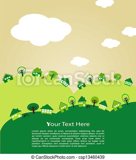 ecological town - csp13460439