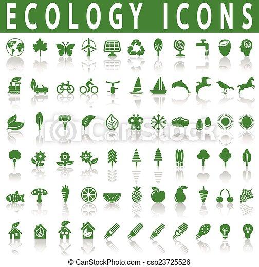 ecologie, iconen - csp23725526