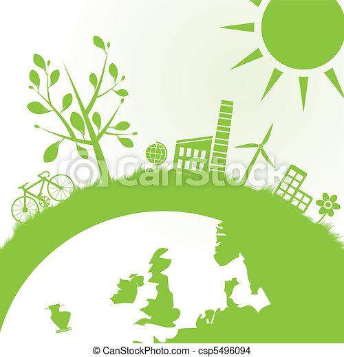 ecologie, macht, achtergrond - csp5496094