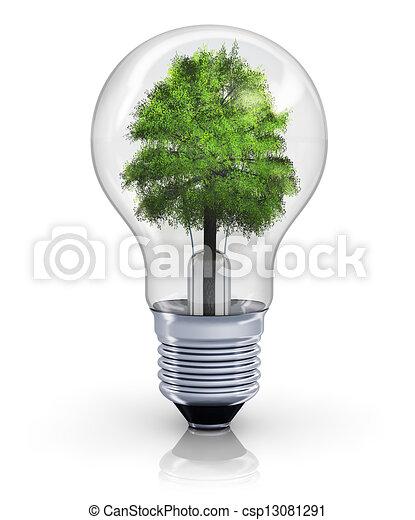 ecologisch, concept - csp13081291