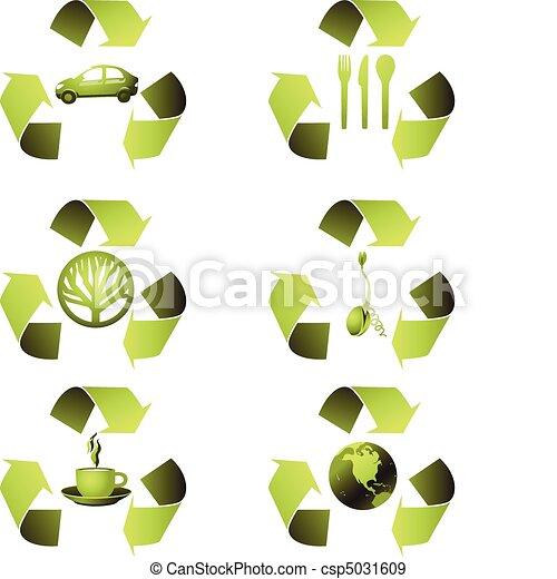 ecologisch, set, pictogram - csp5031609