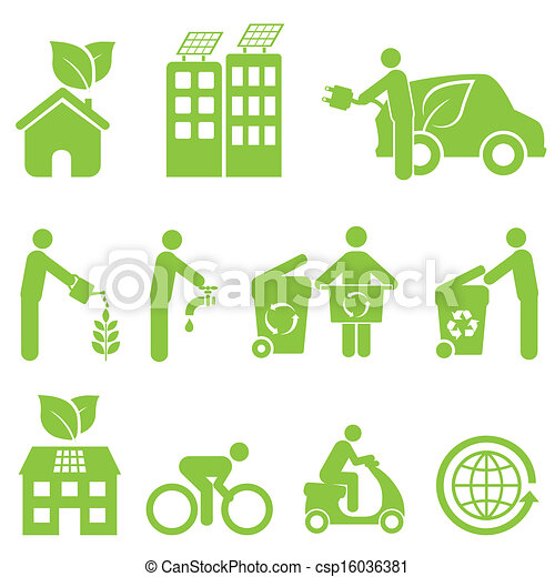 Ecology and Environment Icon Set - csp16036381
