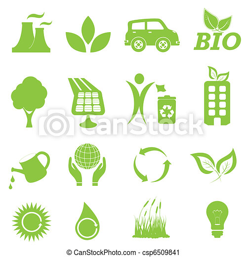 Ecology and environment icon set - csp6509841