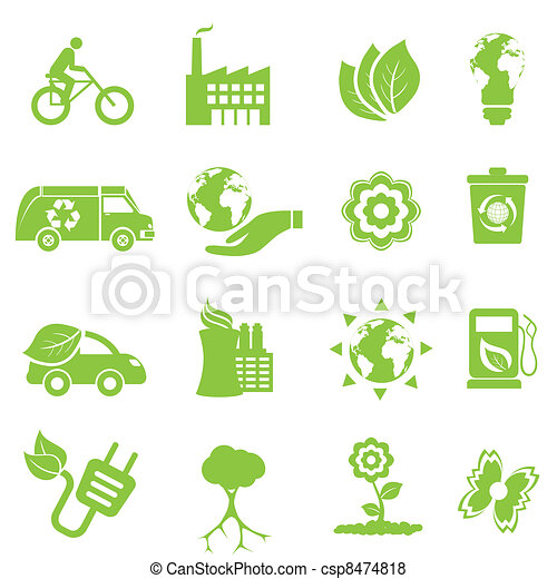 Ecology and environment icons - csp8474818