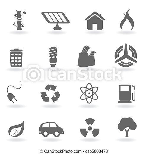 Ecology and environment symbols - csp5803473