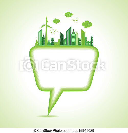 Ecology concept with message bubble - csp15848029