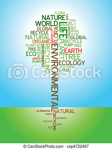 Ecology - environmental poster  - csp4722497