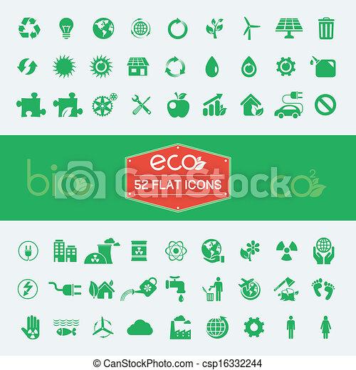 Ecology Flat Icon Set - csp16332244