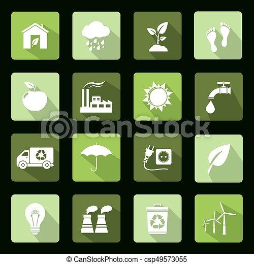 Ecology flat icons - csp49573055