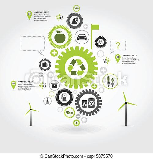 Ecology gear wheel - csp15875570