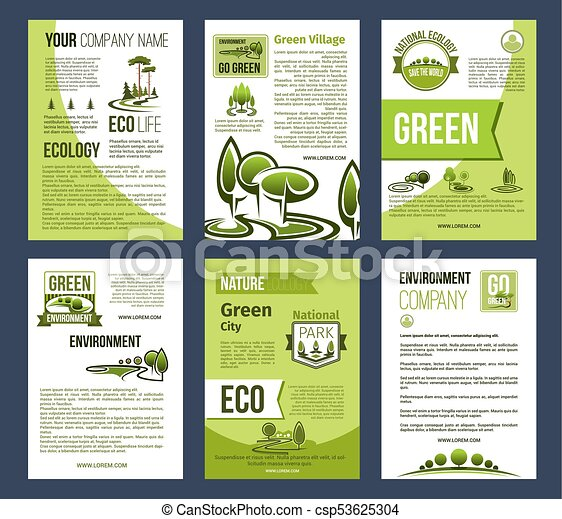 Ecology green city eco business poster template ecology vector ecology green city eco business poster template csp53625304 wajeb Images