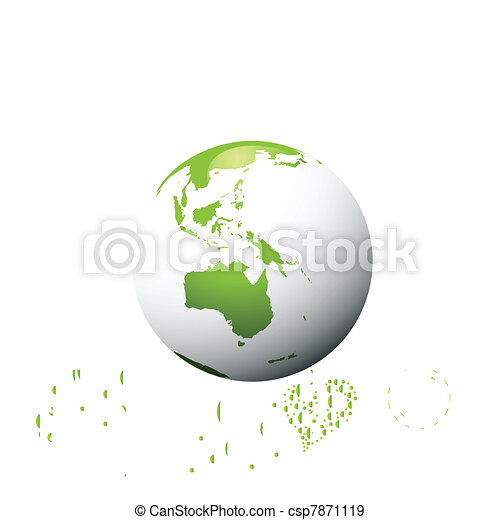 Ecology green planet vector concept - csp7871119