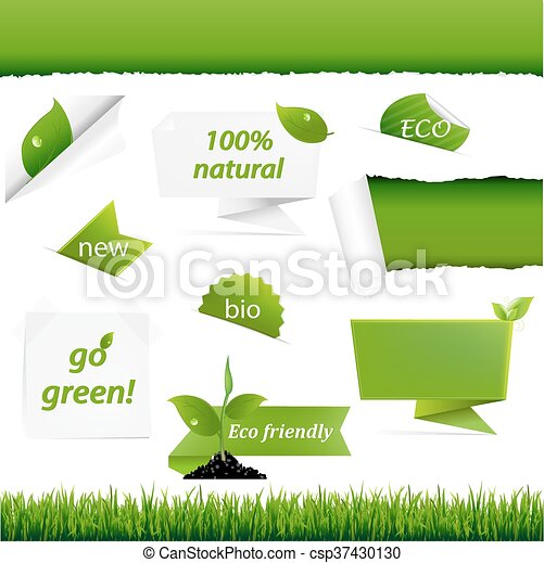 Ecology Green Set - csp37430130