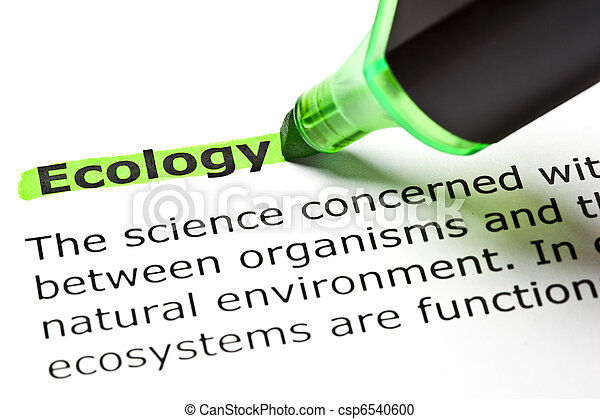 'Ecology' highlighted in green - csp6540600