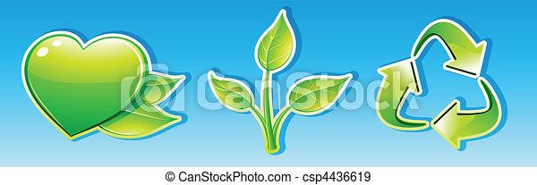 ecology icon set - csp4436619