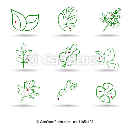 Ecology icon set. Eco-icons. vector - csp11054123