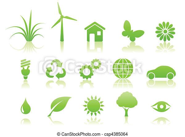 ecology icon set - csp4385064
