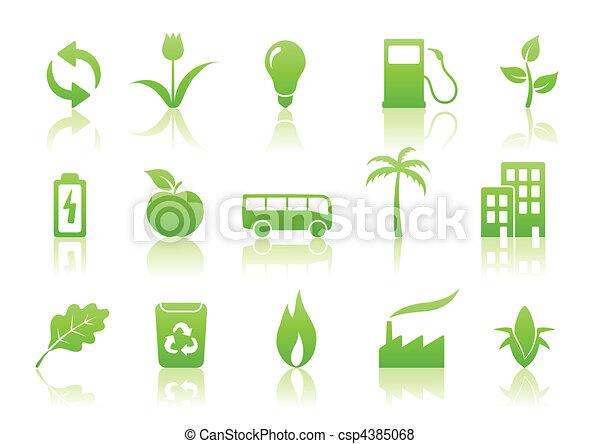 ecology icon set - csp4385068