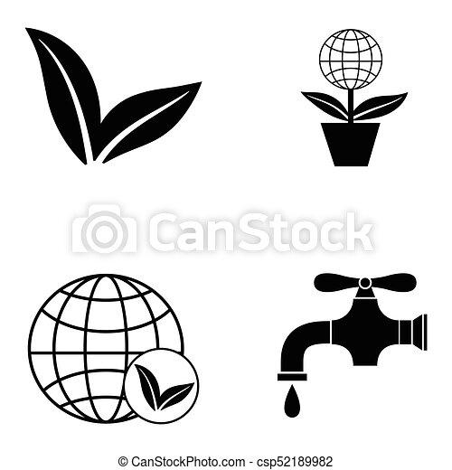 ecology icon set - csp52189982
