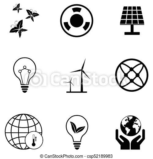 ecology icon set - csp52189983
