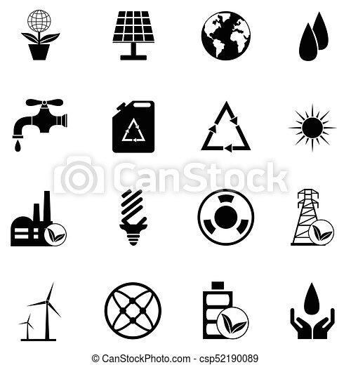 ecology icon set - csp52190089