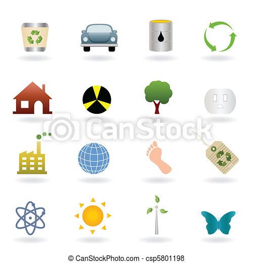 Ecology icon set - csp5801198