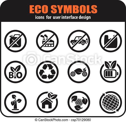 Ecology icon set - csp70129080