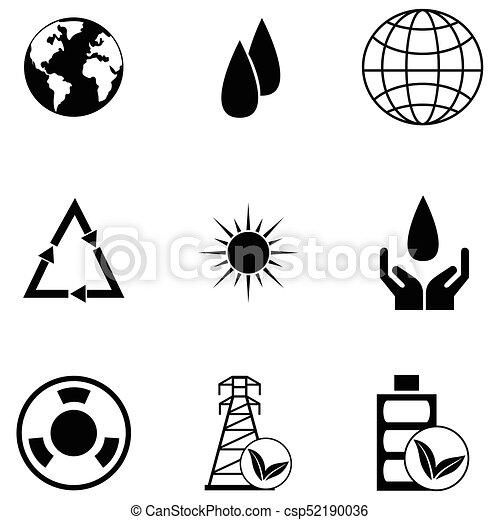 ecology icon set - csp52190036