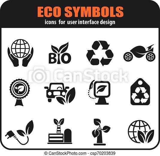Ecology icon set - csp70203839