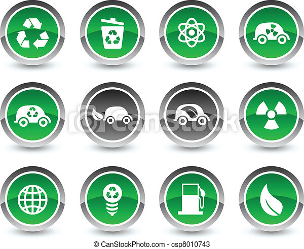 Ecology icon set. - csp8010743