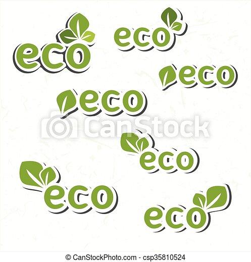 Ecology icon set - csp35810524
