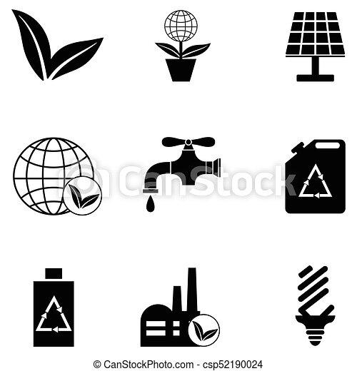 ecology icon set - csp52190024