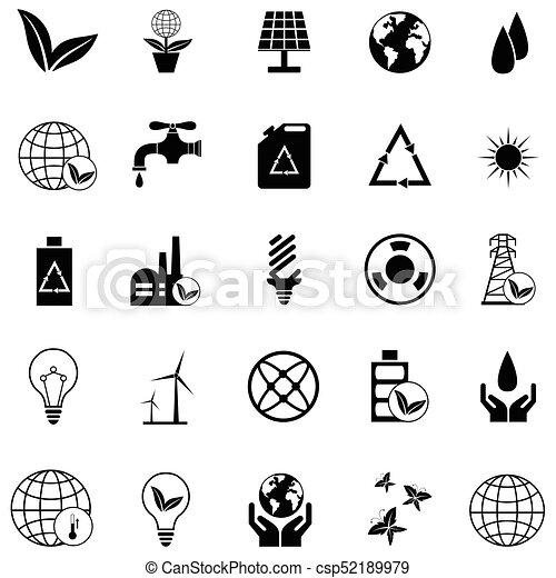 ecology icon set - csp52189979